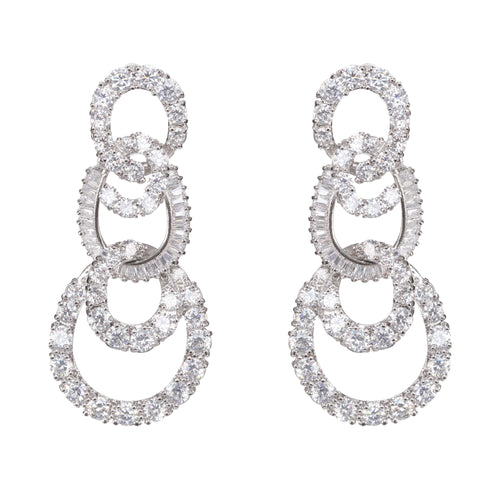 AMALA EARRING-RHODIUM WHITE