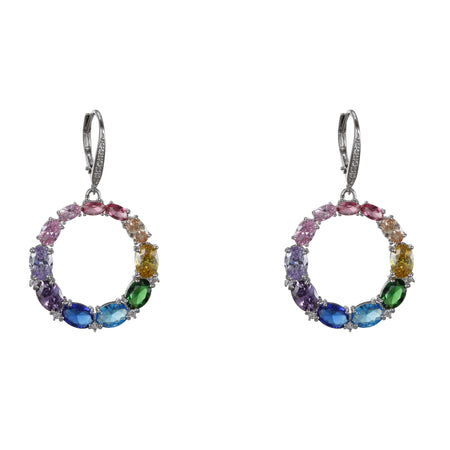 ANGELEE EARRING-OMBRE DENIM BLUE MULTI