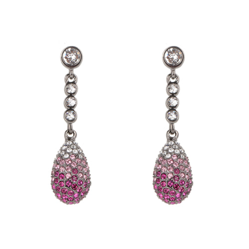 ANNEMAE EARRING-BLACK RHODIUM OMBRE FUCHSIA