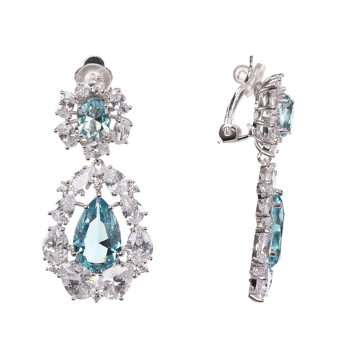 ANSONIA EARRING-LT.BLUE