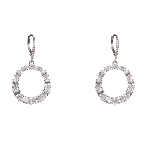 ARDIS EARRING-WHITE GOLD