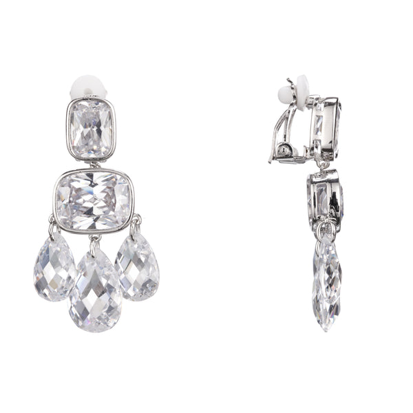 ARENIA CHANDELIER EARRING-RHODIUM