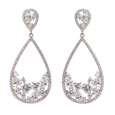 TYLEA EARRING-RHODIUM WHITE