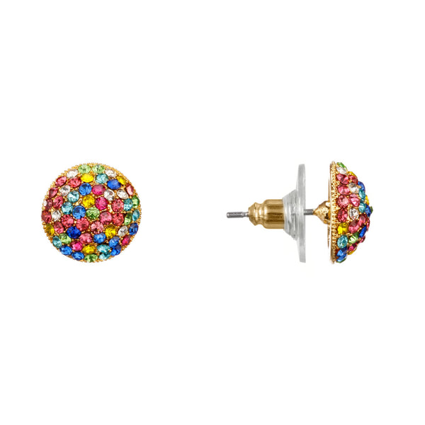 ARLETTE STUD EARRING-GOLD/RAINBOW