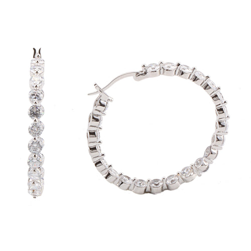 ARMIN EARRING-WHITE GOLD
