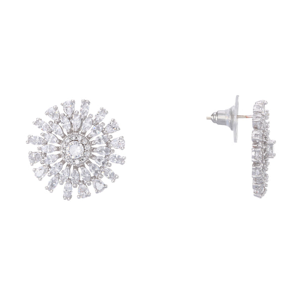 ASTERIA EARRING-RHODIUM WHITE
