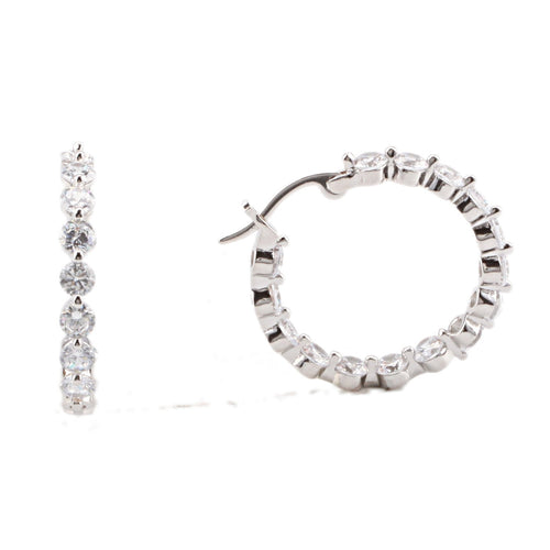 ATARA EARRING-WHITE GOLD