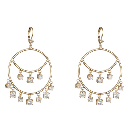 TANA DROP EARRING-RHODIUM