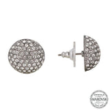 ANGELEE EARRING-BLACK RHODIUM