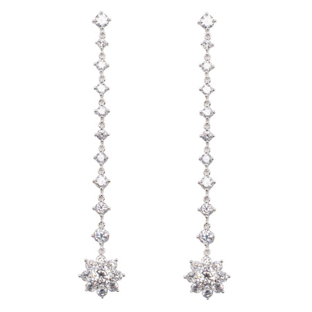 BEVIN EARRING-RHODIUM WHITE