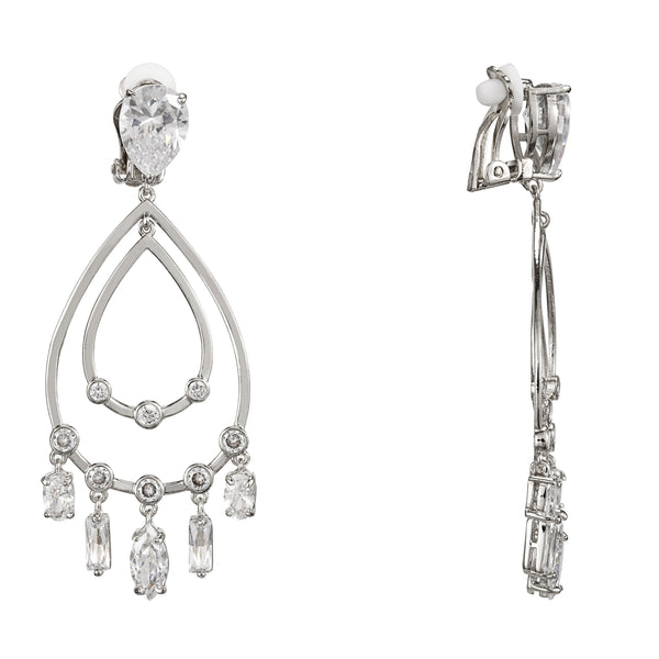 BRAELYN CLIP EARRINGS-RHODIUM