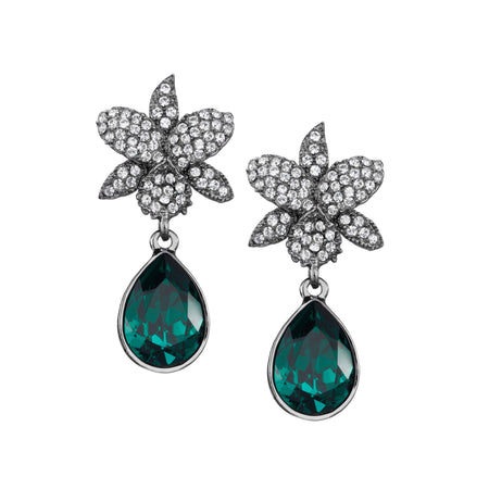 ELIANDRA DROP EARRING-RHODIUM