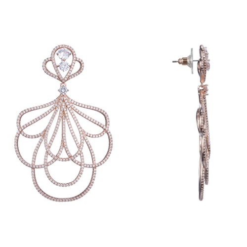 CAMORA EARRING-ROSE GOLD