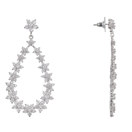 FABIANNE DROP EARRING-RHODIUM