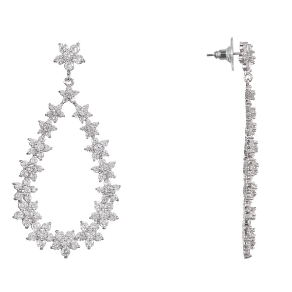 CATALENA DROP EARRING-RHODIUM