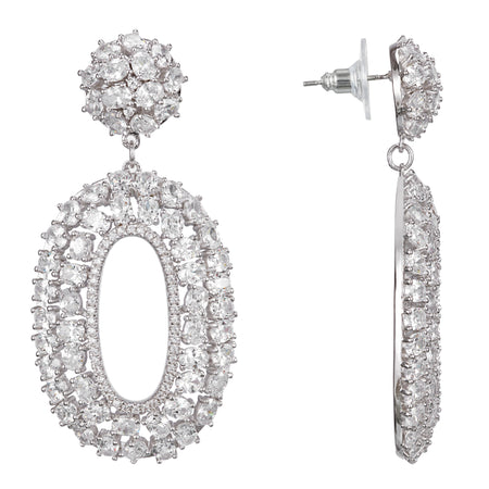 SERENADE DROP EARRING-RHODIUM