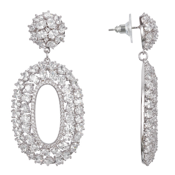 CATARINA DROP EARRING-RHODIUM