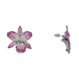 CHANA EARRING-BLACK RHODIUM OMBRE FUCHSIA