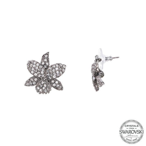 CHAYA EARRING-BLACK RHODIUM