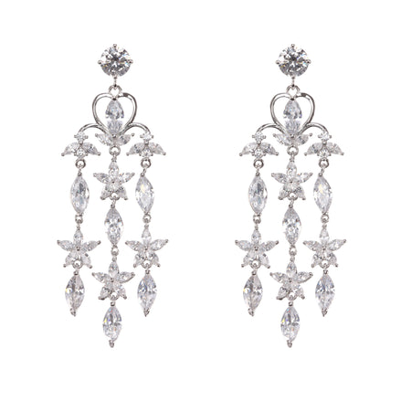 BOLOGNA EARRING-WHITE GOLD