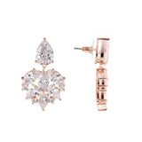 DAFNI DROP EARRING-ROSE GOLD