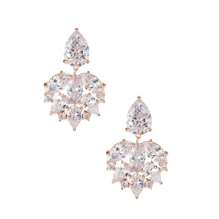 KANDIS CLIP EARRINGS-RHODIUM