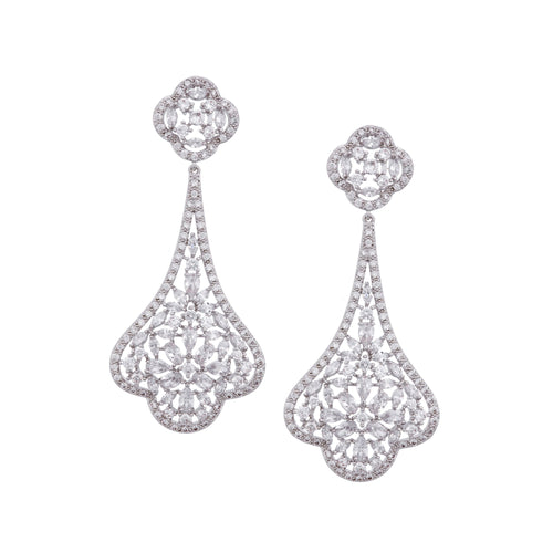 DERINDA CHANDELIER EARRING-RHODIUM