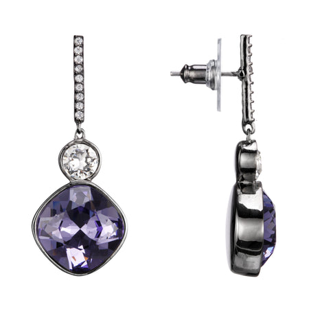 ZOEY DROP EARRING-RHODIUM