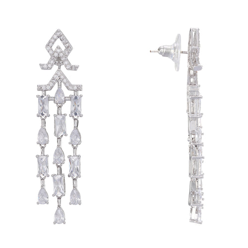 ELARA EARRING-RHODIUM WHITE