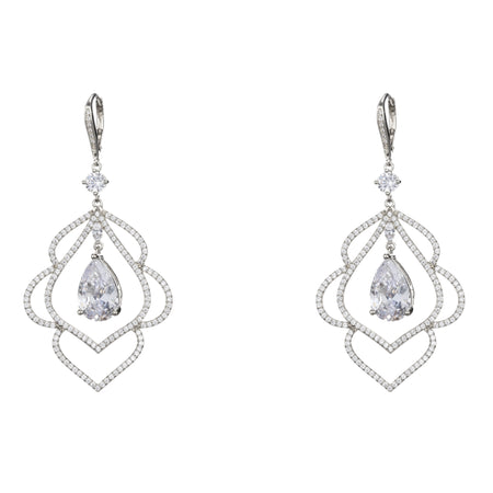 DIAN DROP EARRING-RHODIUM/PURPLE