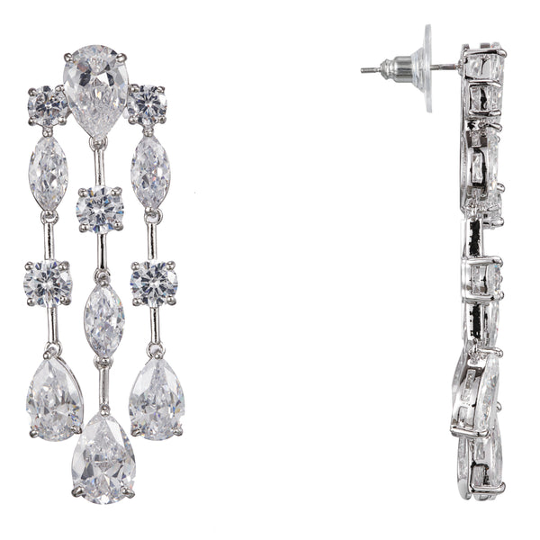 ESABELA DROP EARRING-RHODIUM