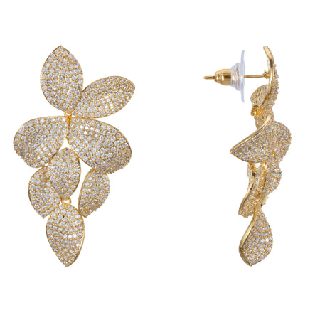 ABREE CLIP EARRING-GOLD/LIGHT PINK