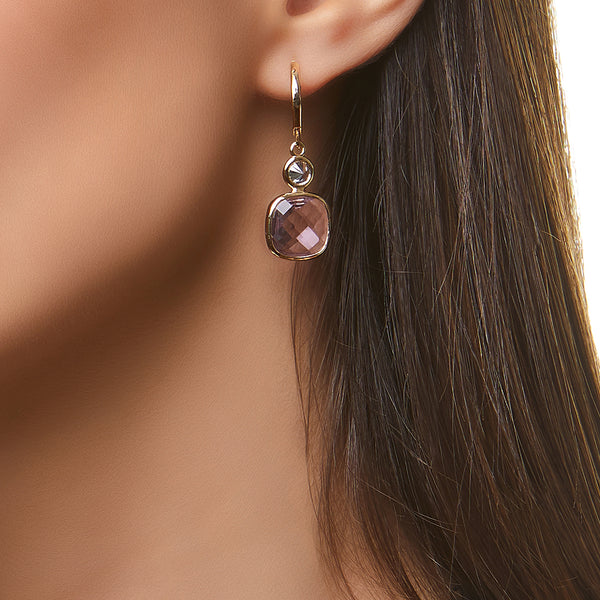 GABBIE EARRING-GOLD/WHITE/PINK
