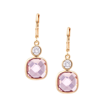 ABRI DROP EARRING-ROSEGOLD/WHITE