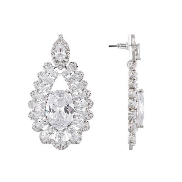 GIORGINA EARRING-RHODIUM/WHITE