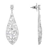 JONTAE EARRING-RHODIUM/WHITE
