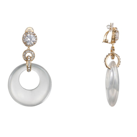 ASTERIA EARRING-GOLD WHITE
