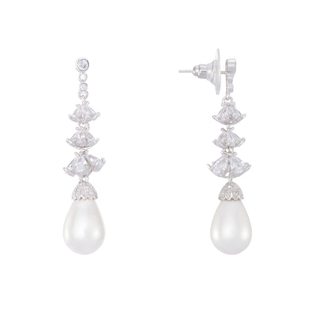 KARLYN EARRING-RHODIUM PLATING WHITE
