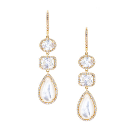 JACEY DROP EARRING-RHODIUM/WHITE