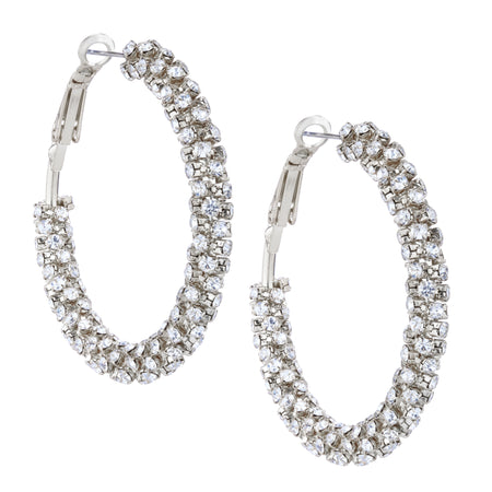 SELENE DROP EARRING-RHODIUM/WHITE