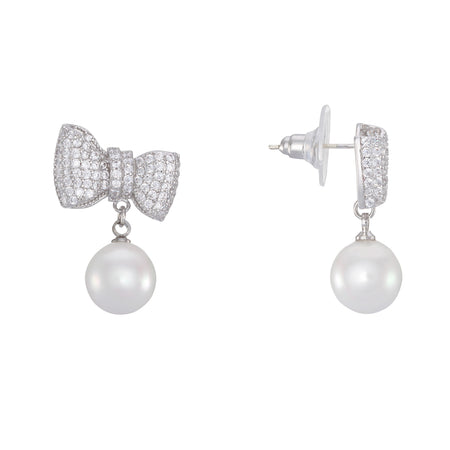 MAJESTIC EARRING-WHITE GOLD