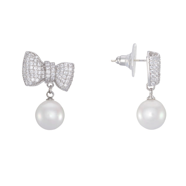 MILAGROS EARRING-RHODIUM WHITE