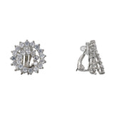 ORELLA CLIP EARRINGS-RHODIUM