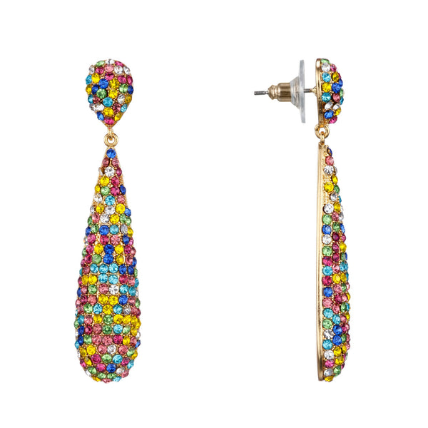 PAOLA DROP EARRING-GOLD/RAINBOW