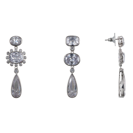 ADAH CLIP EARRINGS-RHODIUM