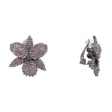 RENEE EARRING-BLACK RHODIUM AMETHYST