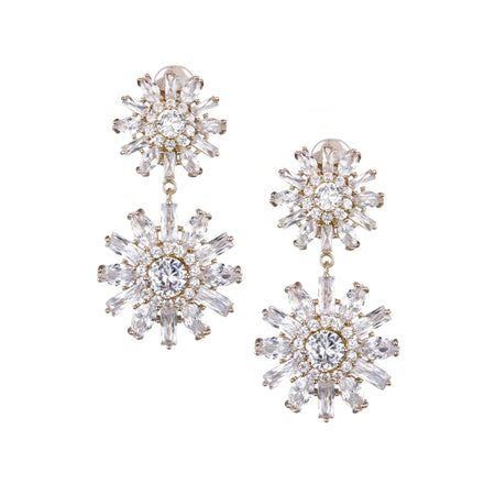 DEONNE DROP EARRING-RHODIUM