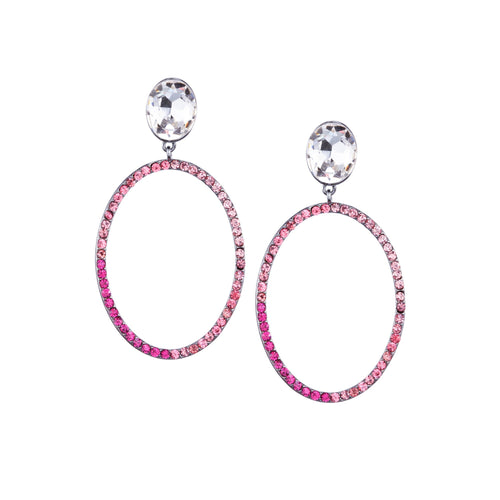 SHELBY DROP EARRING-BLACK RHODIUM/ROSE