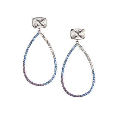 CHANA EARRING-BLACK RHODIUM/PURPLE