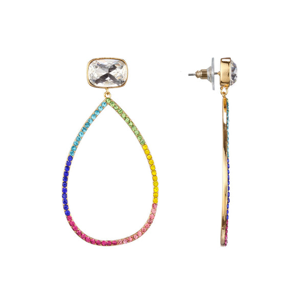 SOFIE DROP EARRING-GOLD/RAINBOW